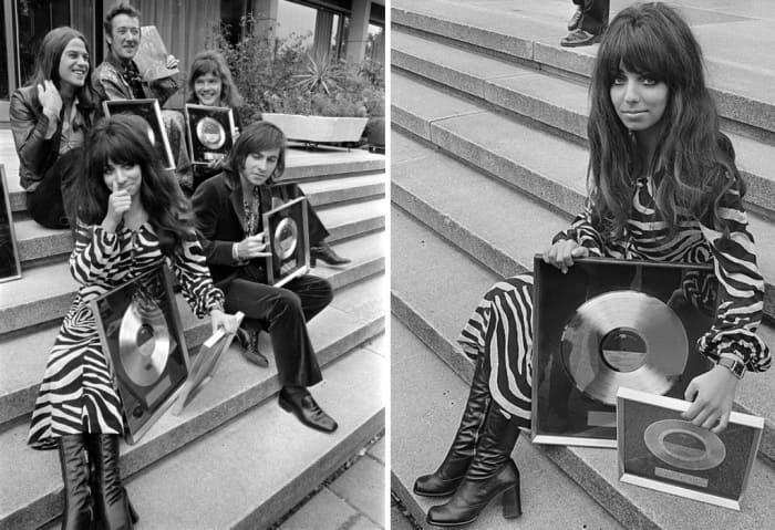 *Shocking Blue* и их золотые диски. Амстердам, сентябрь 1970 | Фото: soyuz.ru