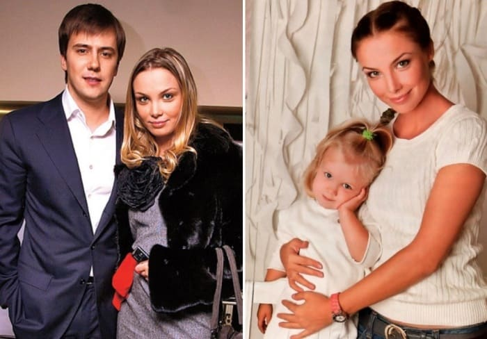 Актриса с первым мужем, Иваном Жидковым, и их дочерью Машей   Фото: elleonora.ru