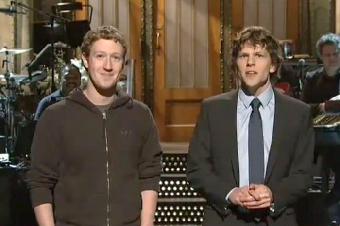 Марк Цукерберг и актер Джесси Айзенберг, исполнивший главную роль в фильме *Социальная сеть* | Фото: ggpht.com