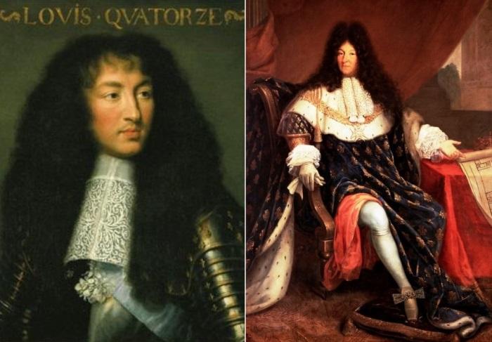 Слева – молодой Людовик XIV. Справа – Людовик XIV в зрелом возрасте Репродукции с портретов   Фото: myhistori.ru