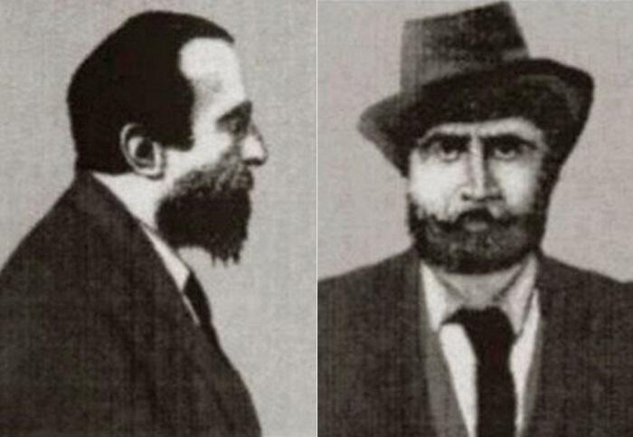 Отставной корнет Н. Савин. Снимок сделан в Центральном антропометрическом бюро в Париже, 1902 | Фото: vest-news.org
