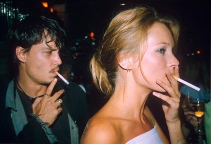 Джонни Депп и Кейт Мосс | Фото: elle.ru