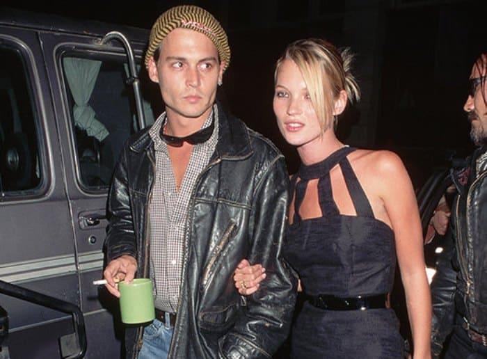 Самая скандальная пара 1990-х гг. Джонни Депп и Кейт Мосс | Фото: cosmo.ru