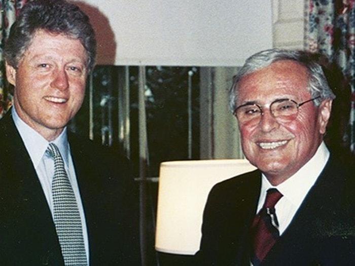 Билл Клинтон и Мартин Гринфилд | Фото: mgreenfield.com