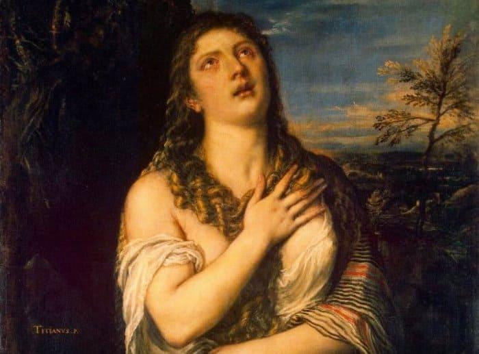 Тициан. Кающаяся Мария Магдалина. Фрагмент | Фото: top-antropos.com