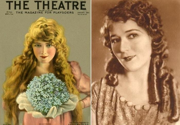 Мэри Пикфорд на обложке журнала *Театр* и на фото | Фото: april-knows.ru и kino-teatr.ru