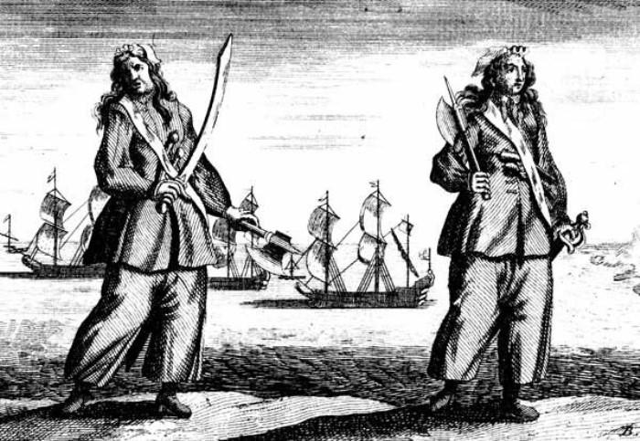 Энн Бонни и Мэри Рид. Гравюра 1724 г. | Фото: masterok.livejournal.com