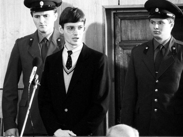Матиас Руст в зале суда | Фото: avia.pro