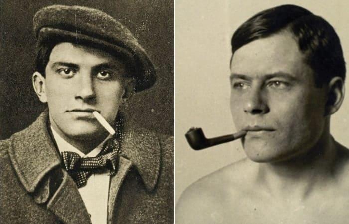 Владимир Маяковский и Майк Йогансен | Фото: proartinfo.ru и uahistory.com