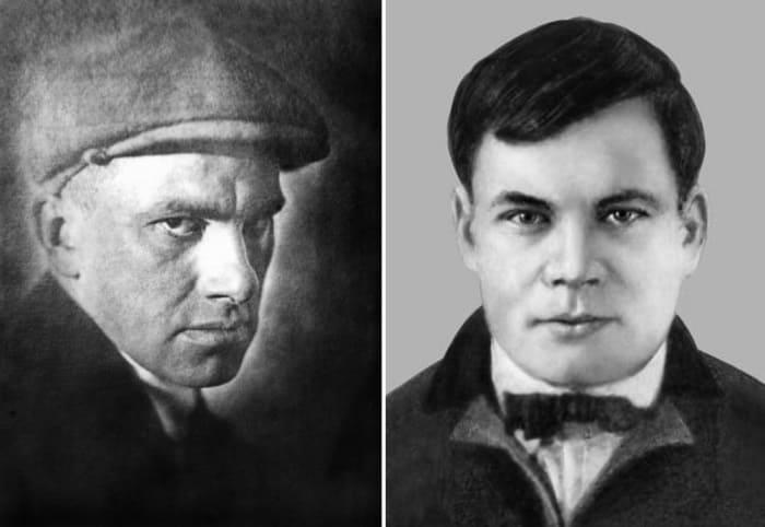 Владимир Маяковский и Майк Йогансен | Фото: mykharkov.info и 2day.kh.ua