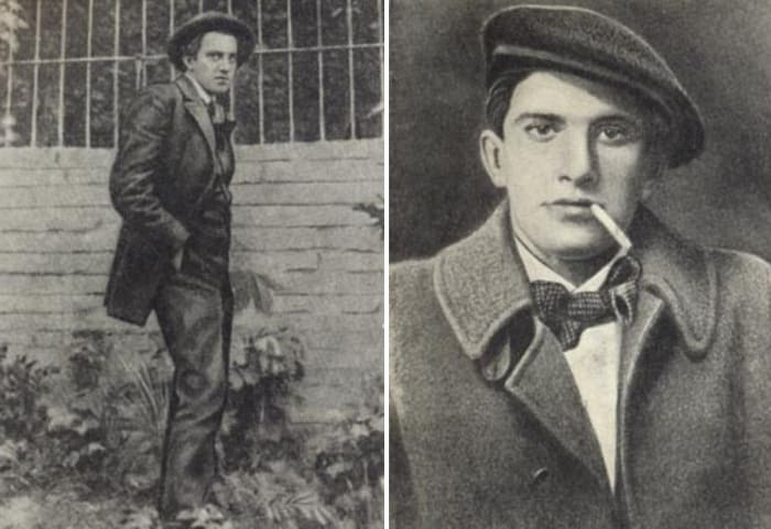 Владимир Маяковский в 1913 и 1915 гг. | Фото: hrono.ru