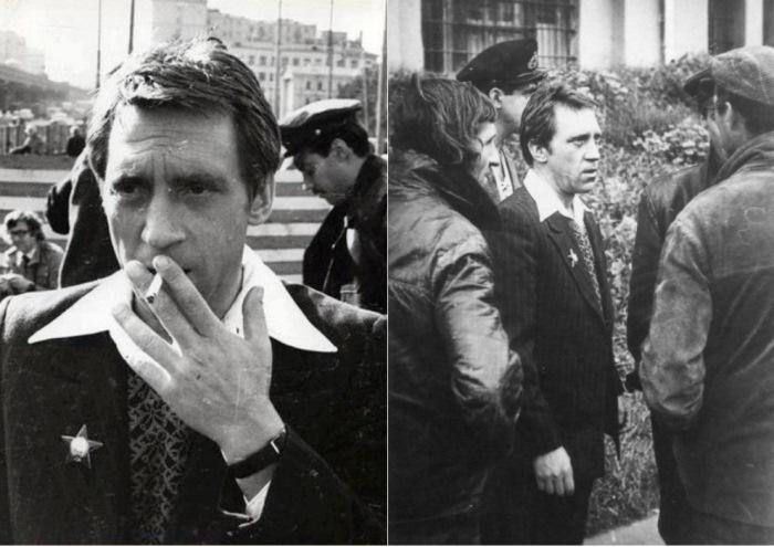 Кадры со съемок фильма *Место встречи изменить нельзя*, 1979 | Фото: pravda-tv.ru