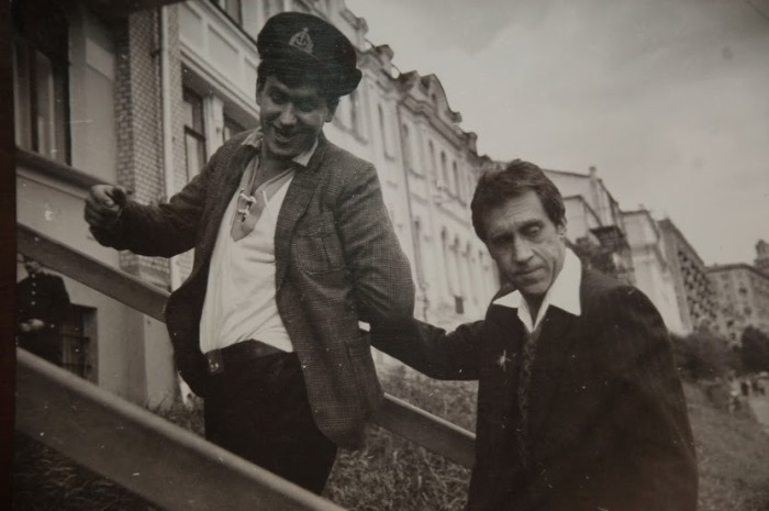 Кадр со съемок фильма *Место встречи изменить нельзя*, 1979   Фото: moryakukrainy.livejournal.com