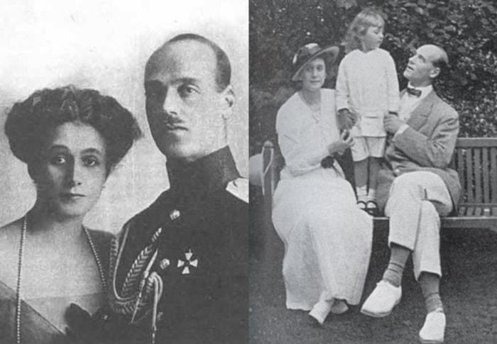 Великий князь Михаил Александрович и Наталья Сергеевна Брасова с сыном Георгием | Фото: liveinternet.ru и radikal.ru