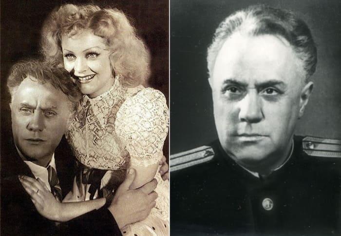 Михаил Жаров и Людмила Целиковская | Фото: kino-teatr.ru и aif.ru