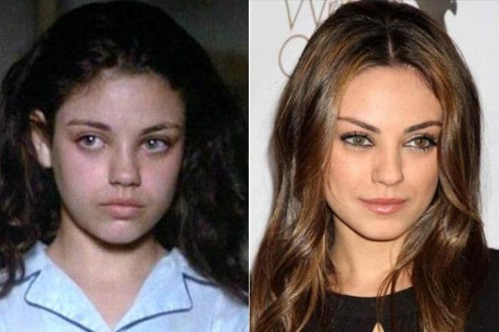 Мила Кунис в юности и сейчас | Фото: 24smi.org