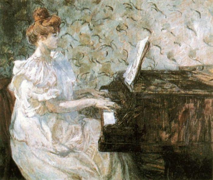 Анри де Тулуз-Лотрек. Мизиа за фортепиано, 1897 | Фото: izbrannoe.com