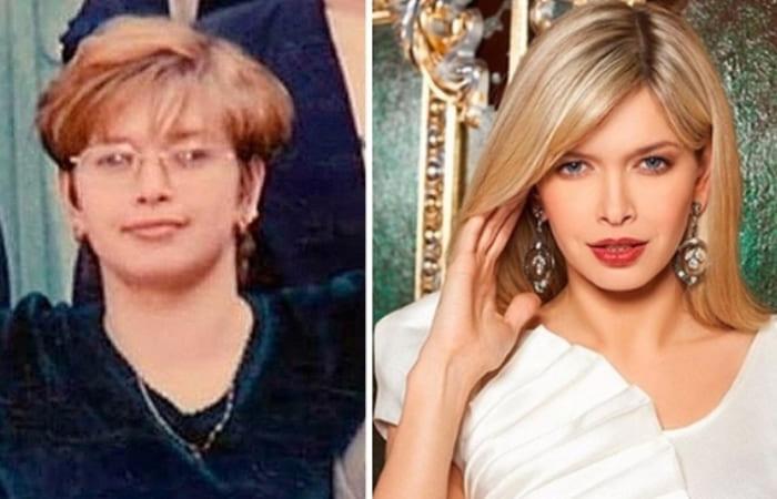 Вера Брежнва в юности и в наши дни | Фото: shining-stars.ru