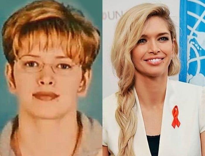 Вера Брежнва в юности и в наши дни | Фото: stars-news.ru