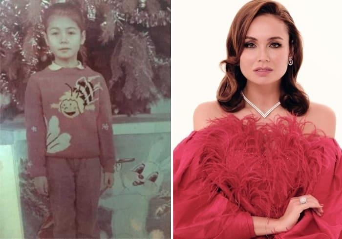 Ляйсан Утяшева в детстве и сейчас | Фото: gp6-chelny.ru, lisa.ru