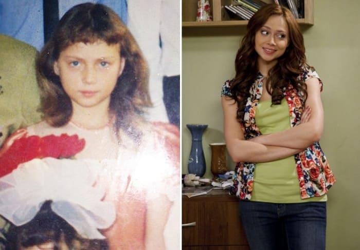 Настасья Самбурская в детстве и в сериале *Универ*, который ее прославил | Фото: woman.ru