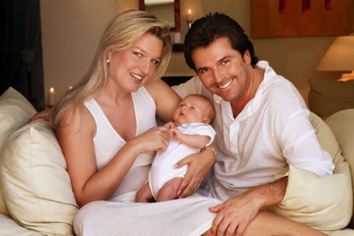 Певец Томас Андерс со второй женой и сыном | Фото: 24smi.org