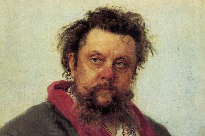 И. Репин. Портрет композитора М. П. Мусоргского, 1881. Фрагмент