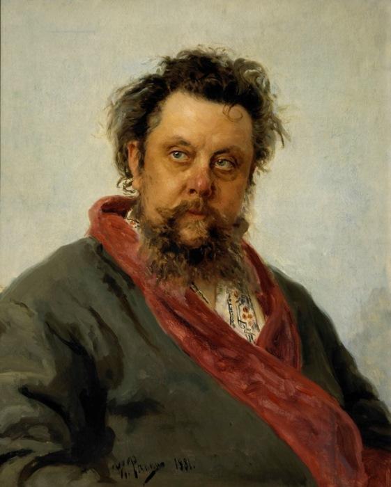 И. Репин. Портрет композитора М. П. Мусоргского, 1881