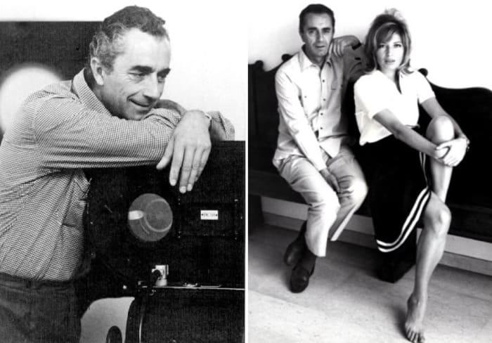 Знаменитый итальянский кинорежиссер Микеланджело Антониони и актриса Моника Витти | Фото: kino-teatr.ru, 2queens.ru