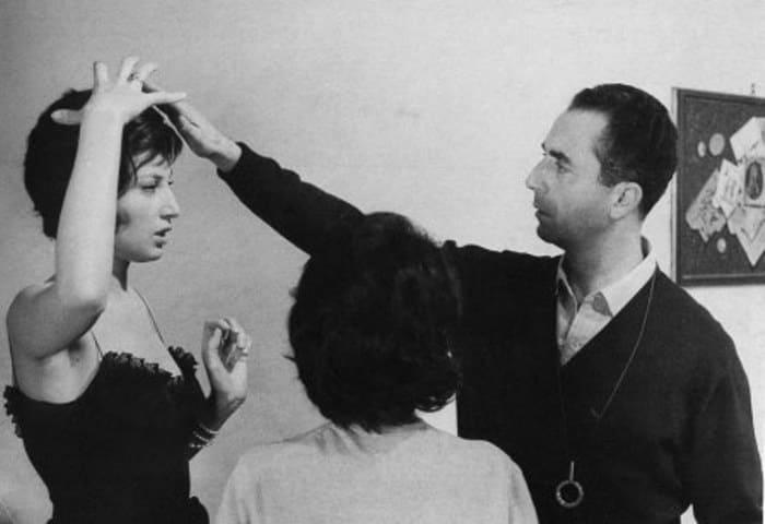 Моника Витти и Микеланджело Антониони на съемках фильма *Ночь* | Фото: 2queens.ru