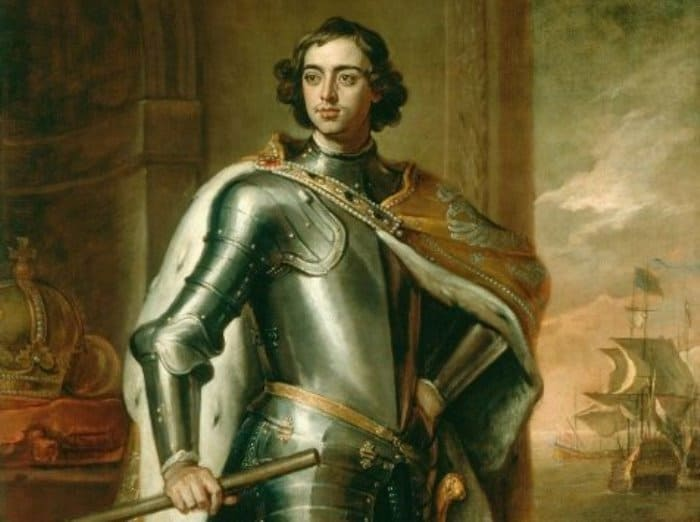 Г. Кнеллер. Портрет Петра I, 1697. Фрагмент | Фото: aria-art.ru