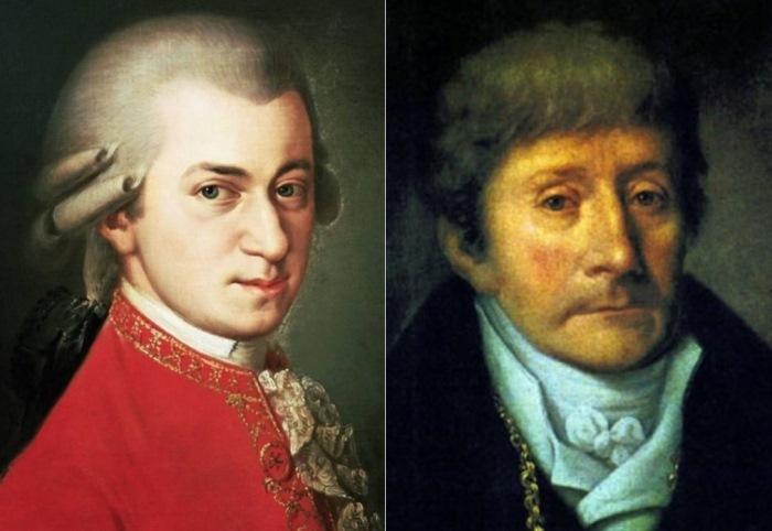 Вольфганг Амадей Моцарт и Антонио Сальери
