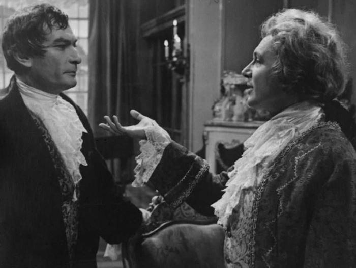 И. Смоктуновский в роли Моцарта и П. Глебов в роли Сальери, 1962