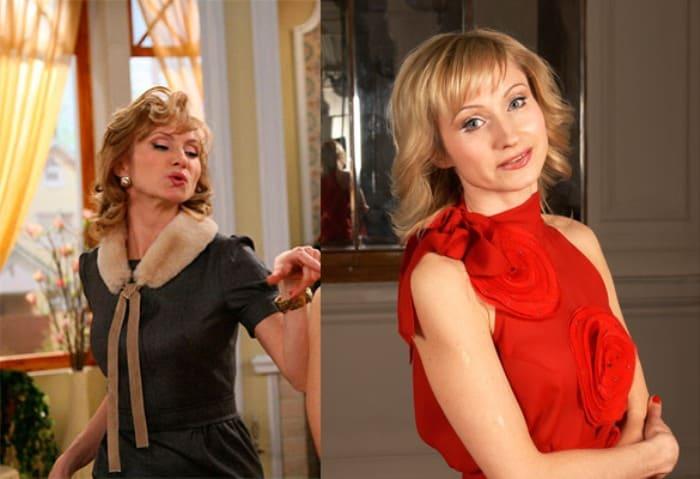 Ольга Прокофьева в сериале *Моя прекрасная няня* и в наши дни | Фото: dni.ru