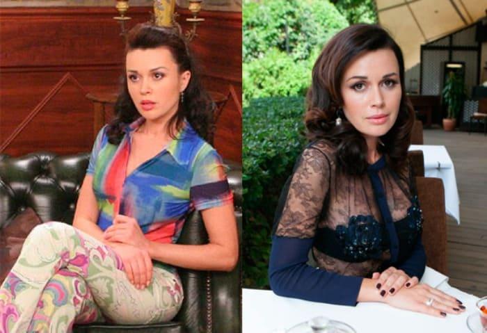 Анастасия Заворотнюк в сериале *Моя прекрасная няня* и в наши дни | Фото: dni.ru