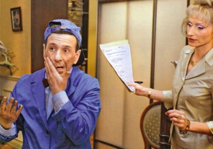 Борис Смолкин и Ольга Прокофьева в сериале *Моя прекрасная няня* | Фото: kino-teatr.ru