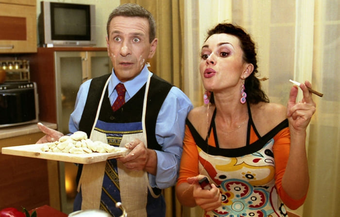 Борис Смолкин и Анастасия Заворотнюк в сериале *Моя прекрасная няня* | Фото: soyuz.ru