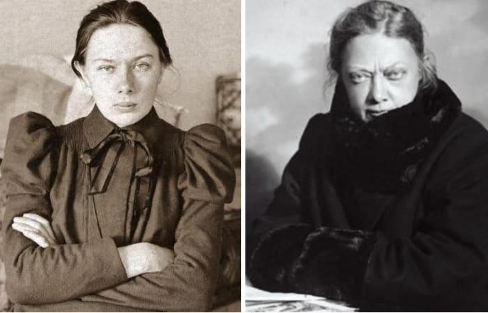 Надежда Крупская в 21 год и в зрелые годы | Фото: sovtime.ru и 24smi.org