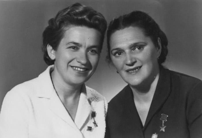 Надежда Троян и Елена Мазаник, 1970-е гг.   Фото: warheroes.ru