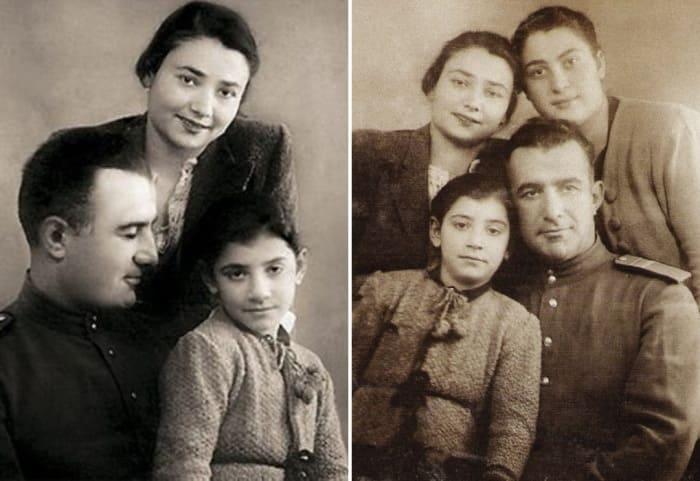 Нани с родителями и двоюродной сестрой | Фото: uznayvse.ru, ru.hellomagazine.com