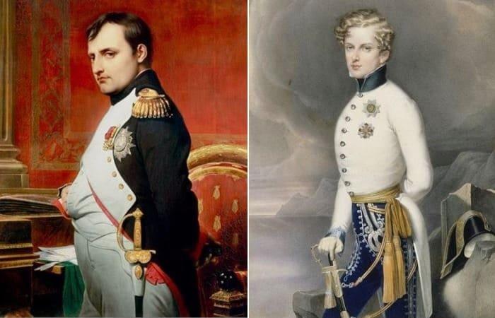 Наполеон Бонапарт и его единственный законный сын и наследник | Фото: pinimg.com и biografieonline.it