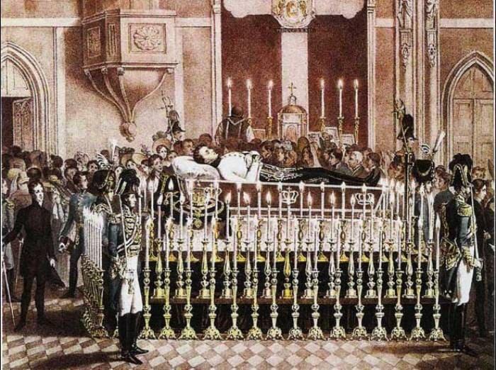 Ночное бдение у гроба Франца Рейхштадтского, 1832 | Фото: history-paradox.ru