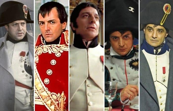 Актеры, сыгравшие Наполеона в кино | Фото: kino-teatr.ru, aif.ru, tele.ru