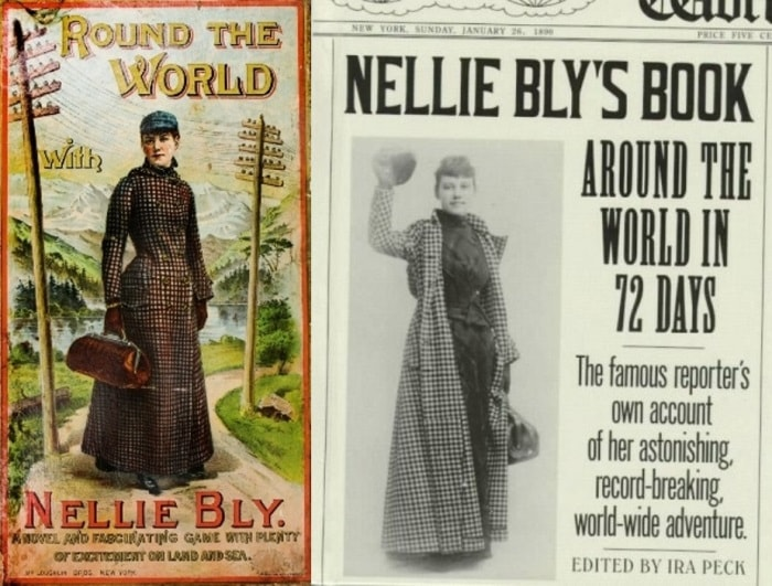 О своем путешествии Нелли Блай написала книгу | Фото: oursociety.ru и demsvet.ru
