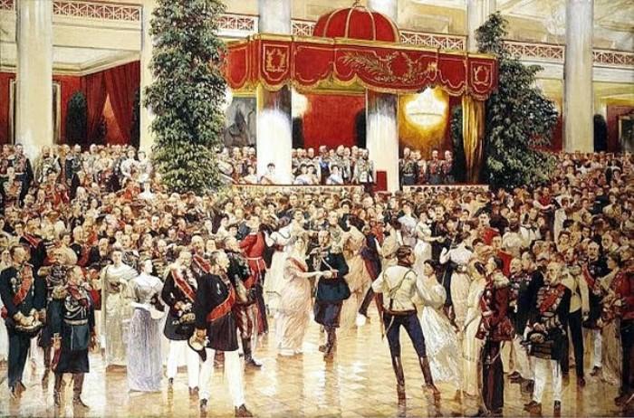 Кардовский Д.Н. Бал в Петербургском Дворянском собрании 1913 года