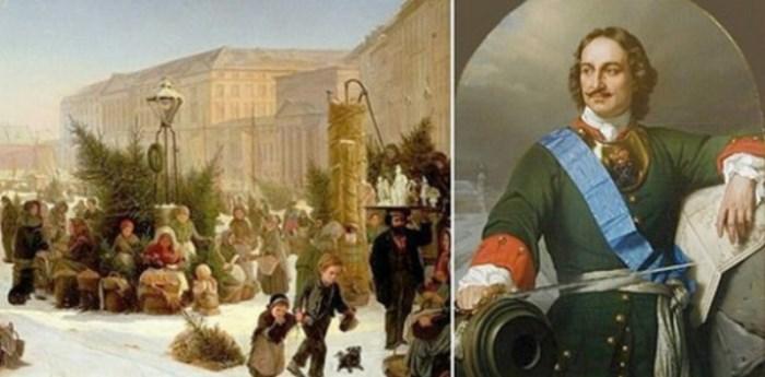 Петр I ввел традицию праздновать Новый год 1 января