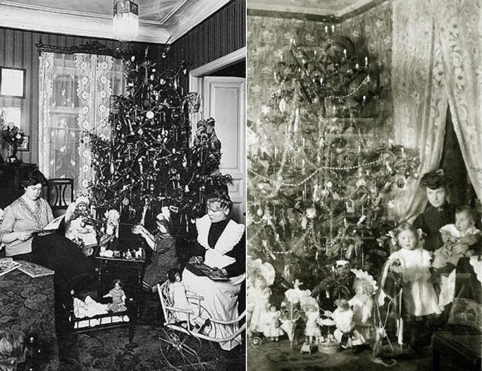 Новогодняя елка. 1910 и 1912 гг.