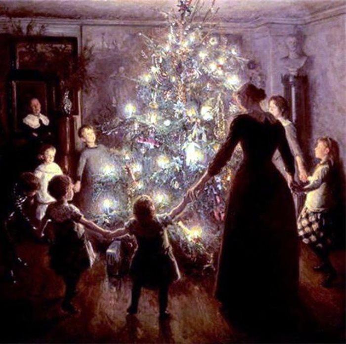 В. Юхансен. Счастливое Рождество, 1891
