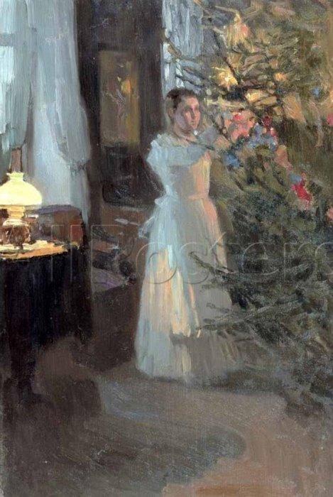 А. Корин. Рождественская елка, 1910