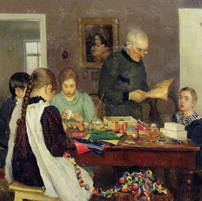 С. Досекин. Подготовка к Рождеству, 1896